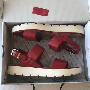 "Aldo red platform flats/sandals ""Dwylia"""